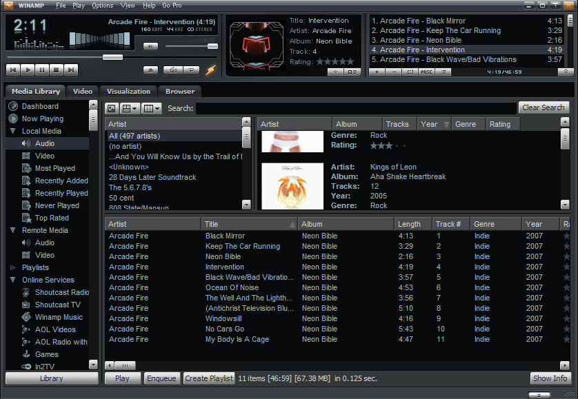 WinAmp | Free Music Software | AudioMelody